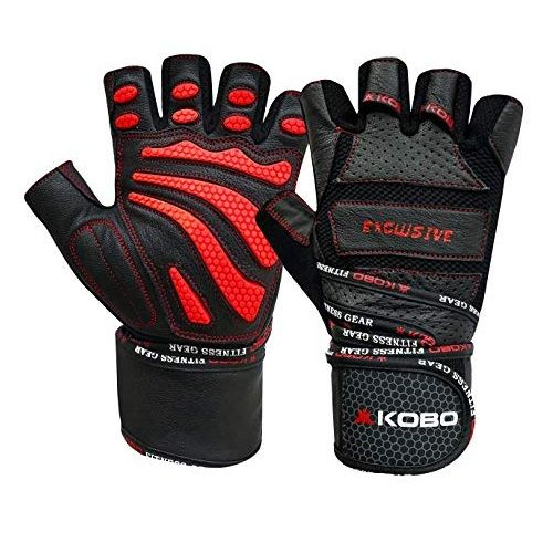 Kobo Leather Gym Gloves