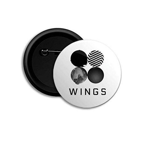 Plastic Wings BTS K-Pop Button Badge