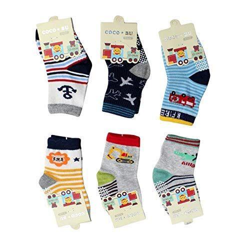 Born Baby boy Fancy Socks Grip
