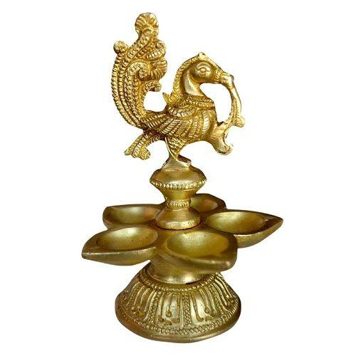 Bird Design Brass Diya