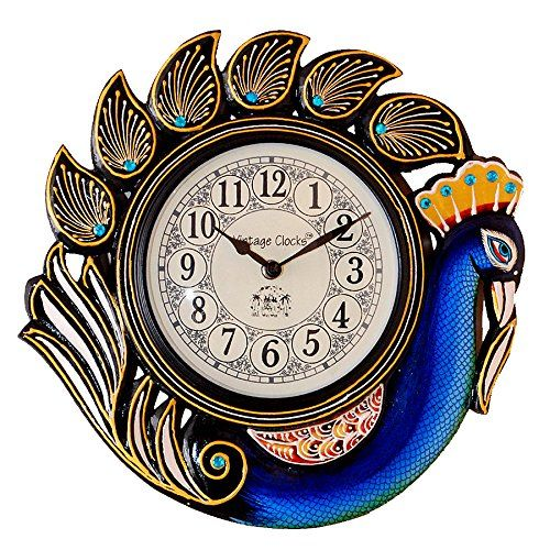 Peacock Blue Wall Clock