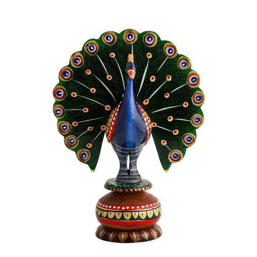 Peacock Painted Showpiece