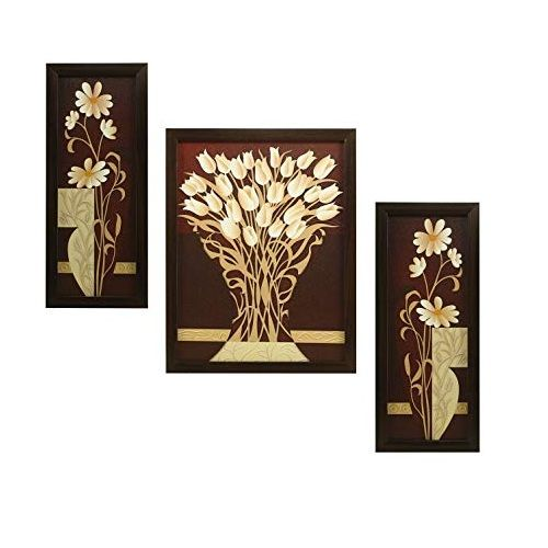 Flower Rectangular Wood Art Painting