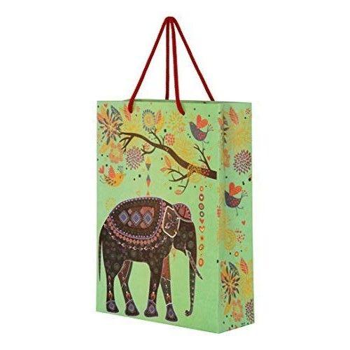 Elephant Theme Paper Bag
