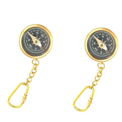 Handicraft Magnetic Compass Keychain