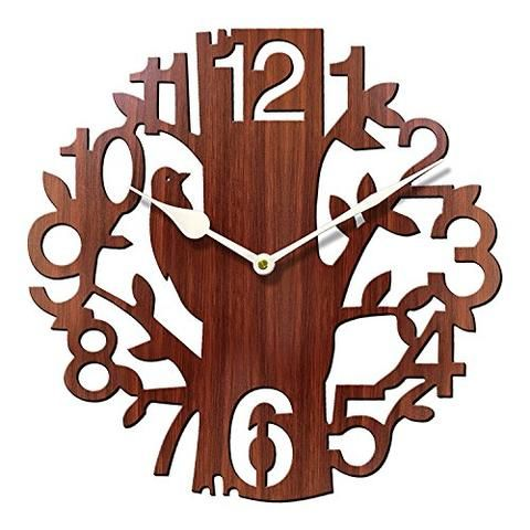 Tree Shaped Wooden Clock